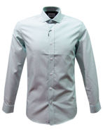 Picture of Brooksfield Aqua Dash Dobby Slim Shirt
