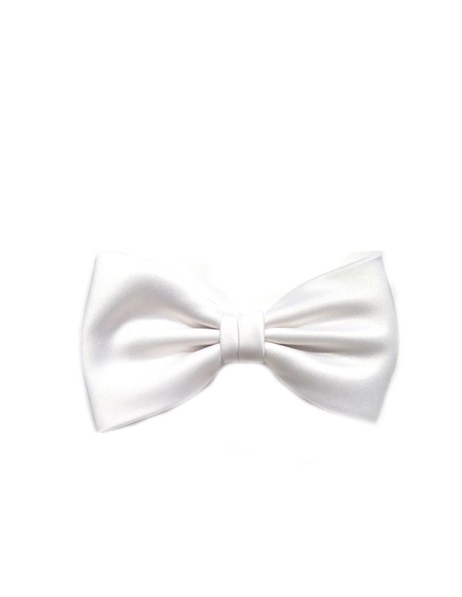 Picture of Hemley Pure White German Made Silk Bow Tie