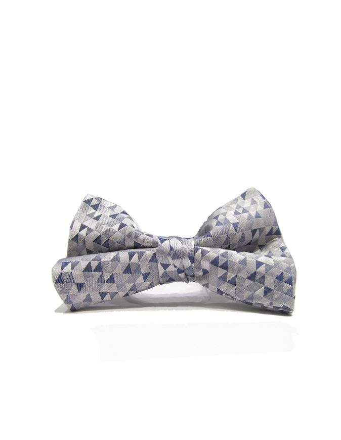 Picture of Ted Baker Grey Patterned Silk Bow Tie