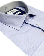 Picture of Brooksfield Blue Mini Scale Slim Shirt