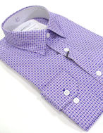 Picture of Brooksfield Twin-Check Purple Slim Shirt