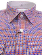 Picture of Brooksfield Twin-Check Pink Slim Shirt