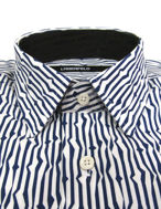 Picture of Lagerfeld Zig Zag Navy Print Shirt