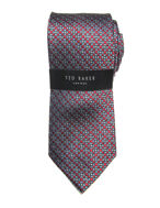 Picture of Ted Baker Geometric Circle Print Red Silk Tie