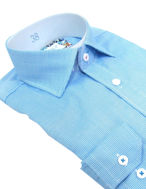 Picture of Brooksfield Aqua Micro text Slim Shirt