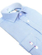 Picture of Brooksfield Blue Text Dobby Slim Shirt