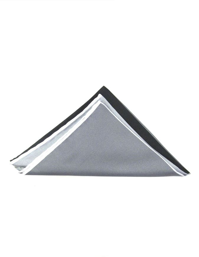 Picture of Hemley 4 Shades of Black and Grey Silk Pocket Square