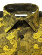 Picture of Versace Gold Baroque Weave Shirt