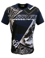 Picture of Versace Jeans Navy Hawaiian Print Tshirt