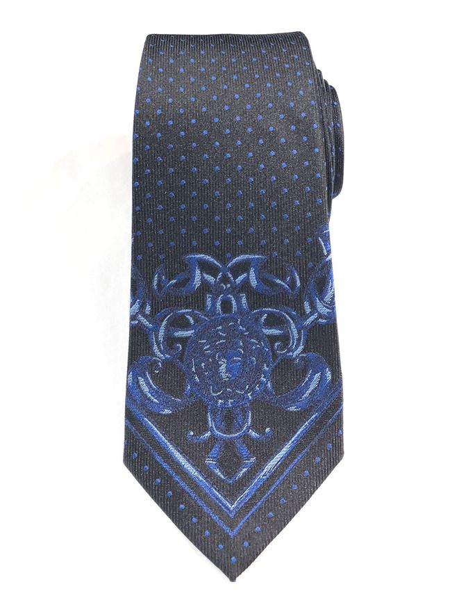 Picture of Versace Mainline Medusa Pattern Silk Tie