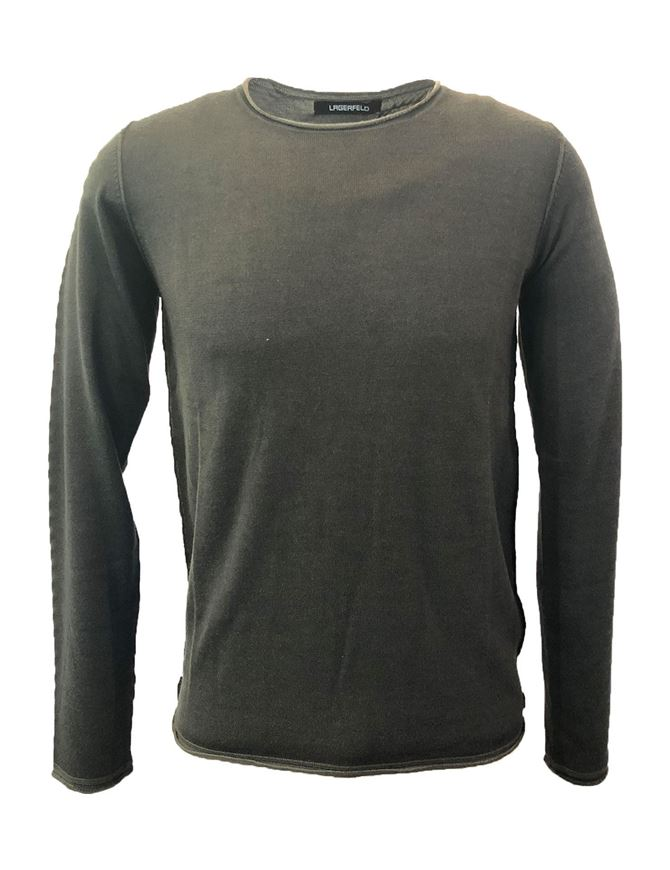 Picture of Lagerfeld Olive Merino Fashion Knit
