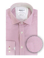 Picture of Brooksfield Dot Red Slim Shirt