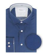 Picture of Brooksfield Dotted Dobby Navy Slim Shirt