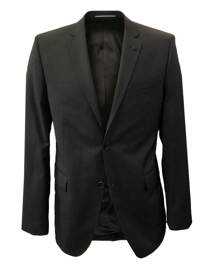 Picture of Lagerfeld Black Micro Weave Suit