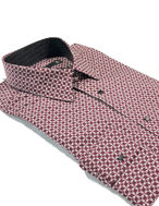 Picture of Lagerfeld Red Jigsaw Print Shirt