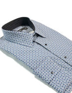 Picture of Lagerfeld Blue Jigsaw Print Shirt