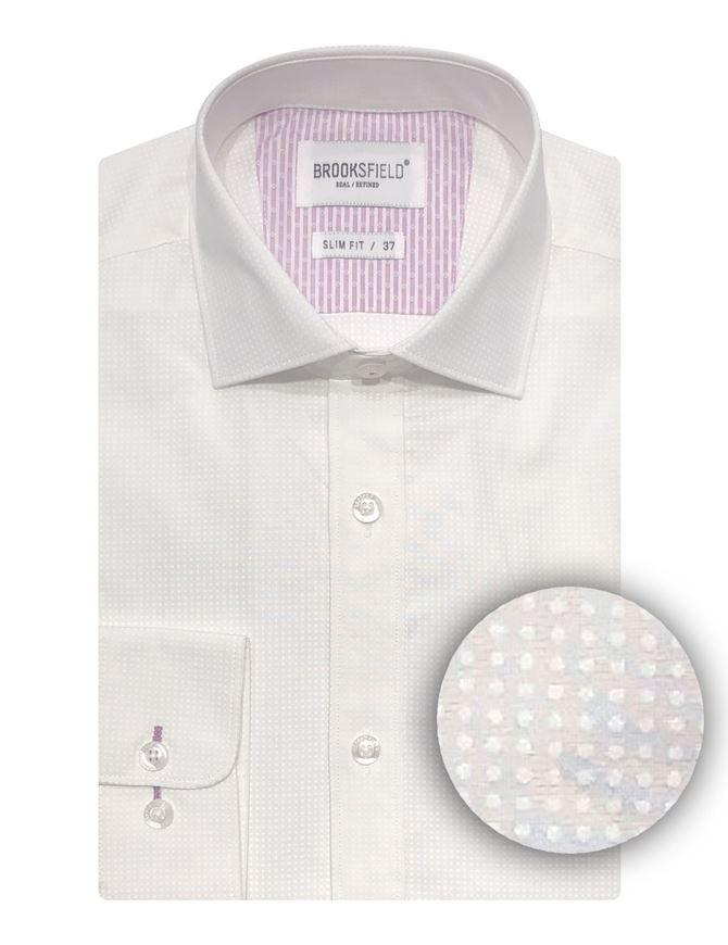 Picture of Brooksfield Tonal Dot Slim Shirt