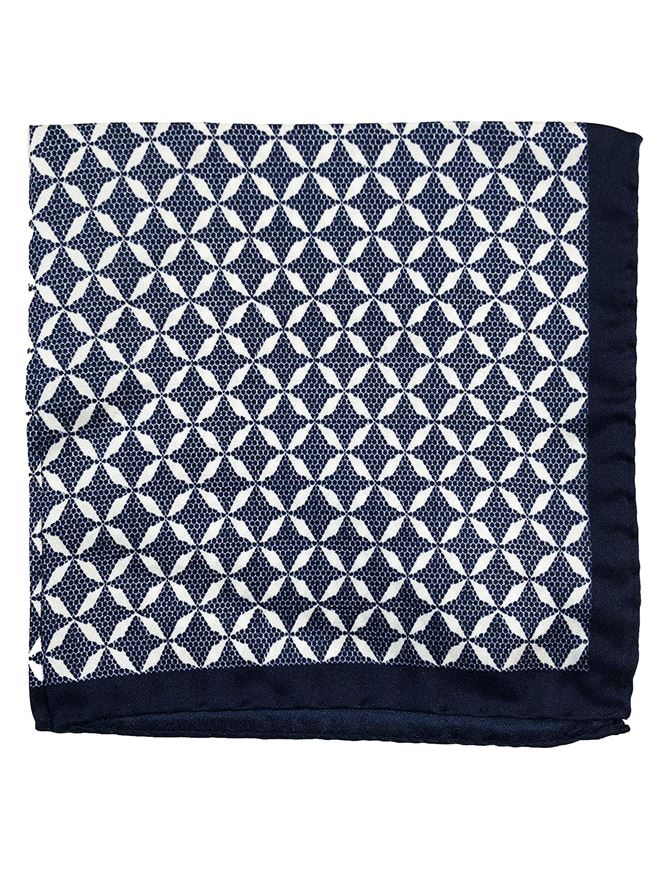 Picture of Ted Baker Geometric Print Pocket Square