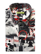 Picture of Versace Jeans Abstract White Shirt