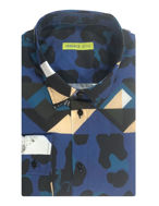 Picture of Versace Jeans Tiger Camo Print Shirt