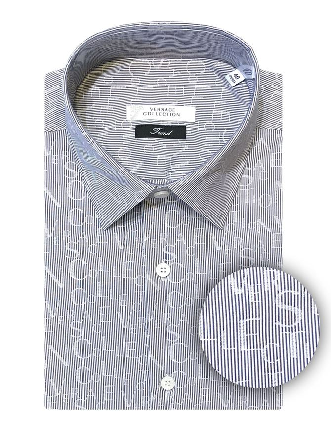 Picture of Versace Lettering Weave Shirt