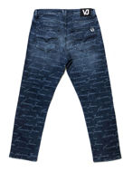 Picture of Versace Jeans Signature Blue Washed Denims