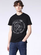 Picture of Diesel Black Mohawk Print T-shirt