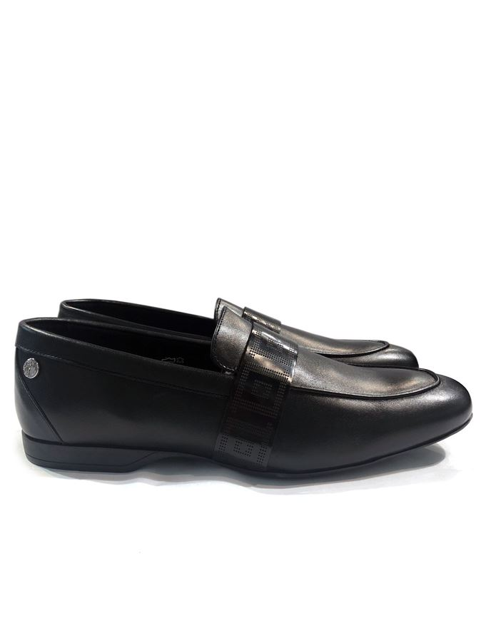 Picture of Versace Collection Greca Slipon Shoes