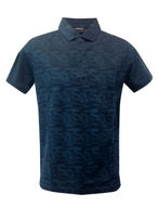 Picture of Lagerfeld Navy Knitted Camo Polo