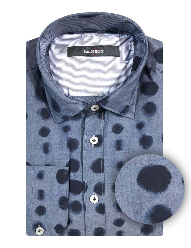 Picture of Osvaldo Trucchi Polka Dot Fashion Shirt