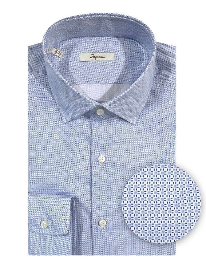 Picture of Ingram Cotton Stretch Blue Shirt