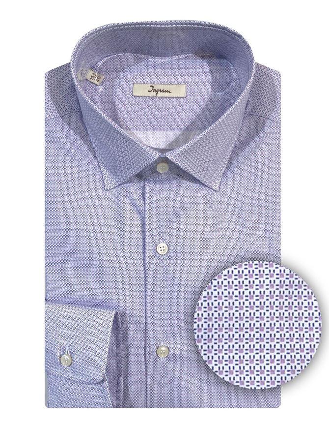 Picture of Ingram Cotton Stretch Purple Shirt