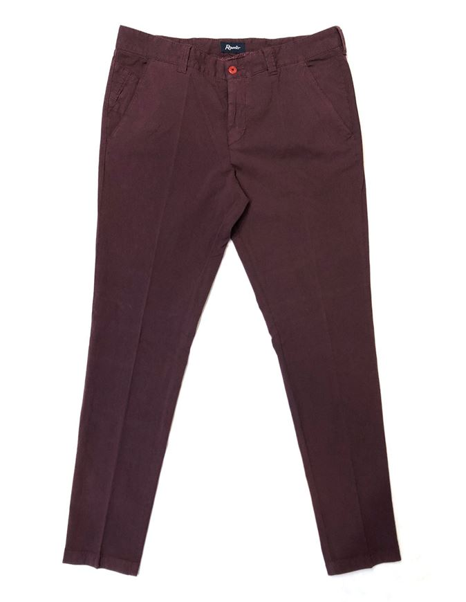 Picture of Reporter Wine Cotton Stretch Pants