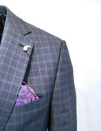 Picture of Ted Baker Blue Over Check Suit