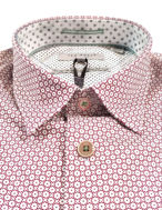 Picture of Ted Baker Red Geometric Print Shirt
