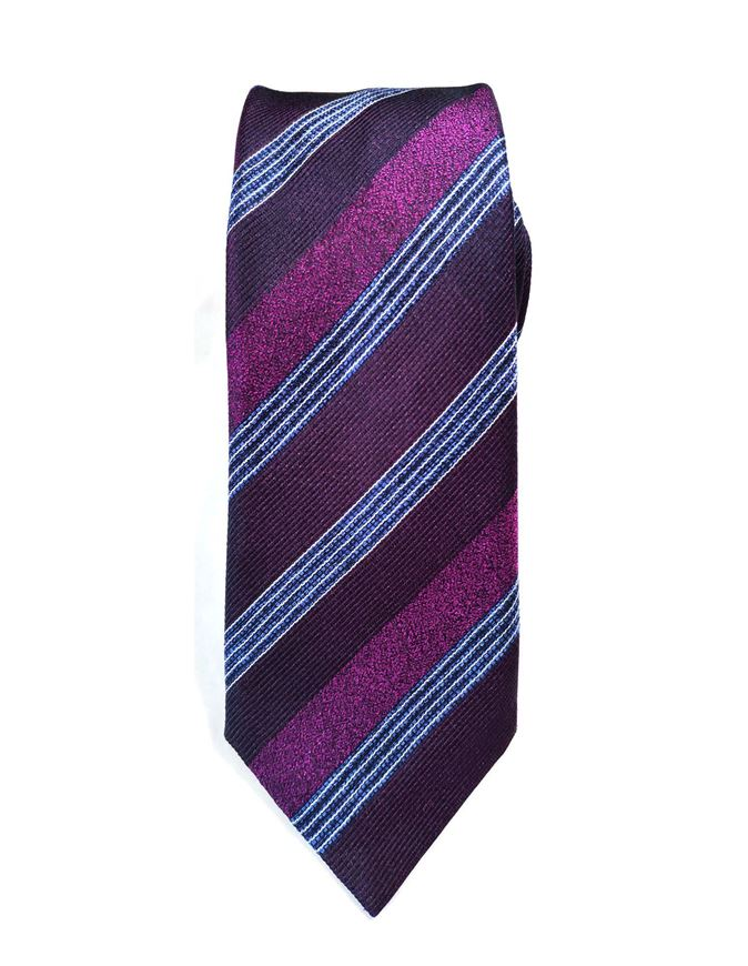 Picture of Hemley German Made Jacquard Stripe Silk Tie