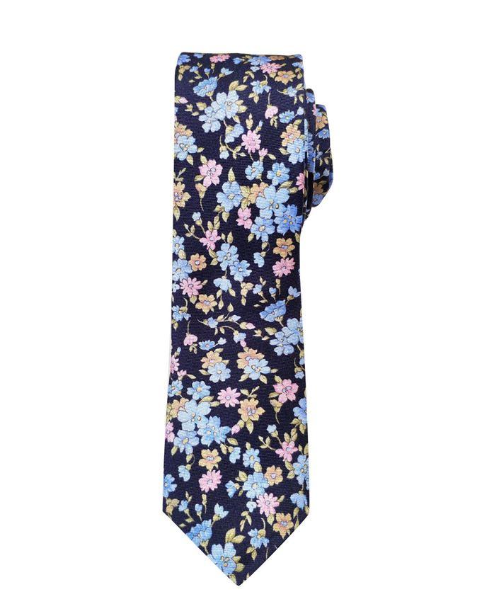 Picture of Hemley German Made Floral Print Skinny Silk Tie