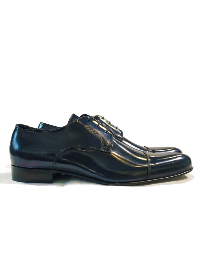 Picture of Reporter Navy Lace-up Dress Shoes
