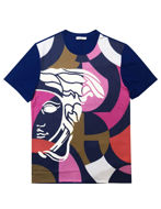 Picture of Versace Blue Contrast Medusa Tee