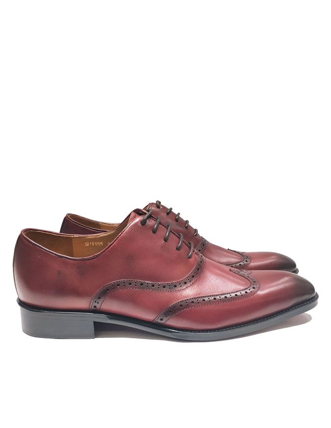 Picture of Cutler Fashion Brogue Wine Shoes