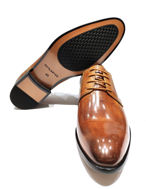 Picture of Cutler Tan Ostrich Laceup Shoes