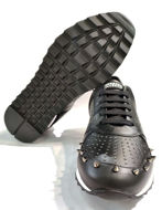 Picture of Versace Spike Studs Sneakers in Black