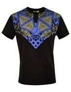 Picture of Versace Jeans Baroque Embossed Tee