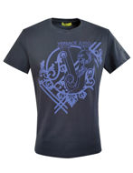 Picture of Versace Jeans Logo Embossed Tee in Navy