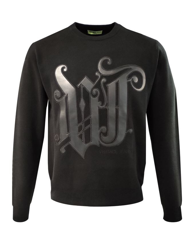 Picture of Versace Jeans Pleather Embossed Knit