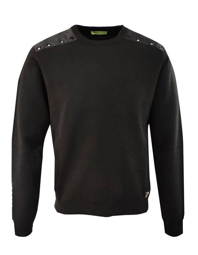 Picture of Versace Jeans Studs Knit in Black