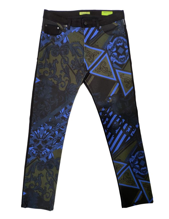 Picture of Versace Jeans Duchess Baroque Print Jeans