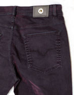 Picture of Versace Jeans Velvet Washed Denim in Plum