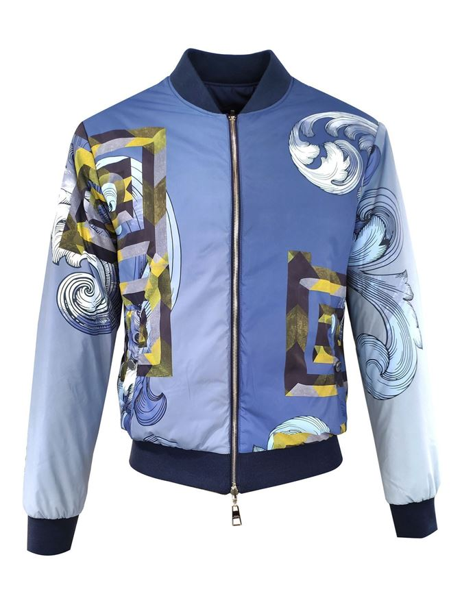 Picture of Versace Blue Ombre Reversible Jacket
