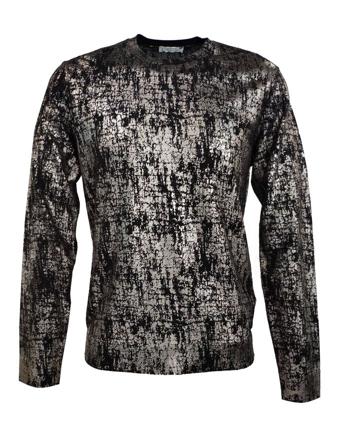 Picture of Versace Silver Print Viscose Knit